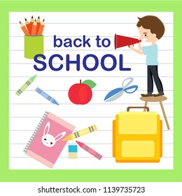 back to school vector concept.