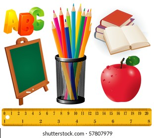 Back to school. Vector design elements set.