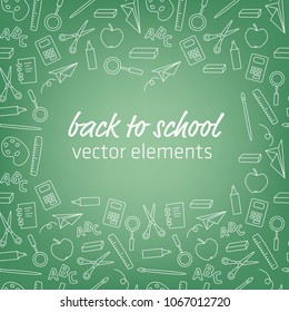 back to school - vector elements