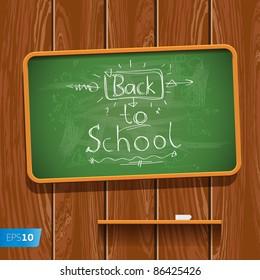 Back to School. Vector eps10 illustration.