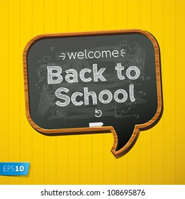 Back to school, vector Eps10 image