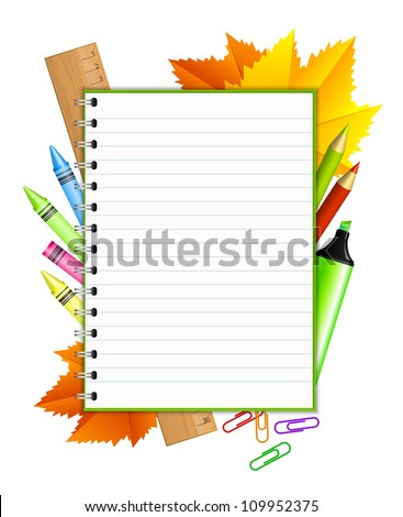 2be1d5b44f88 Back School Vector Frame Stationery Stock Vector (Royalty Free ...