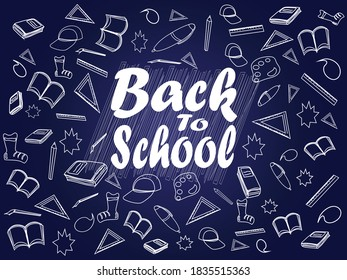 back to school is a vector image that can be used as a poster and pamphlet welcoming students at school. With images that are easy to change, the back to school image is very good to use in school