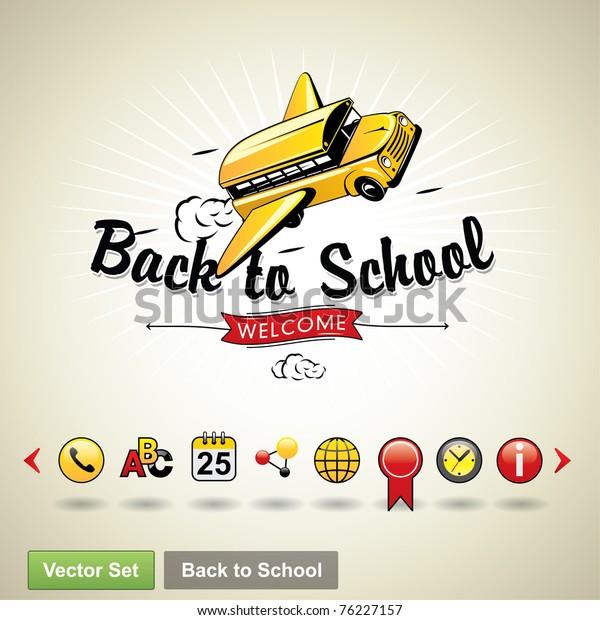 Back to school. Vector set
