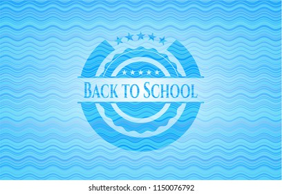 Back to School water wave badge.