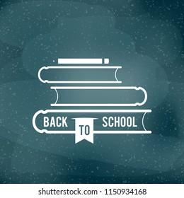 Back to school. Welcome back to school label. Vector illustration, flat design