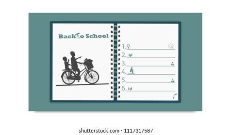 Back to school.education concept vector illustration