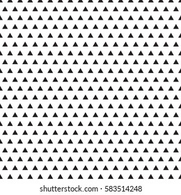 Back triangle pattern texture on white background.