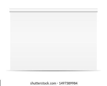 Backdrop mockup. Empty backdrop isolate on white background. White backdrop mockup.