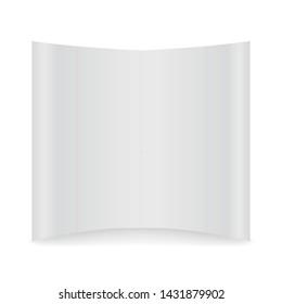 Backdrop mockup. White backdrop mockup isolate on white background.