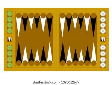 Backgammon. Backgammon board. Backgammon vector Playing backgammon