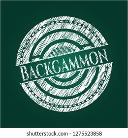 Backgammon chalk emblem