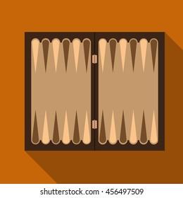 Backgammon flat icon illustration isolated vector sign symbol