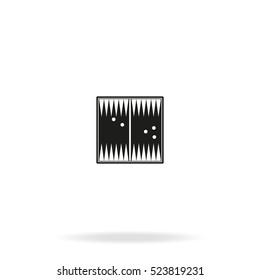 Backgammon flat vector icon isolated on white background.