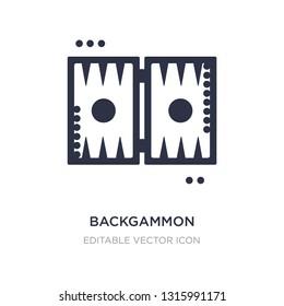 backgammon icon on white background. Simple element illustration from Gaming concept. backgammon icon symbol design.