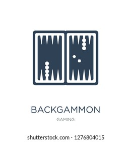 backgammon icon vector on white background, backgammon trendy filled icons from Gaming collection, backgammon vector illustration