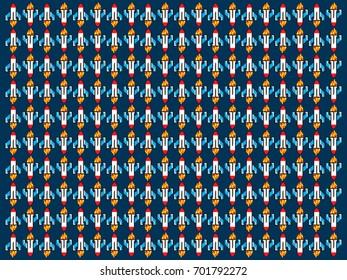 Backgraund rocket with pixel texture