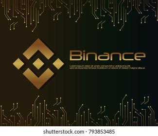 Backgroun blockchain binance design collection