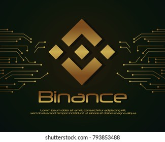 Backgroun blockchain binance design collection