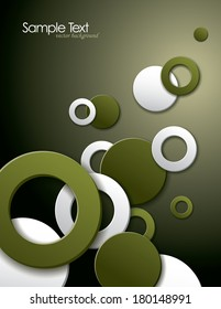 Background with 3D Circles and rings.