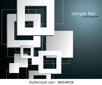 Background with 3D Squares.