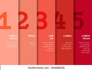 Background with 5 vertical stripes with numbers and enough copyspace not only for your infographic