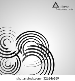 Background abstract arrows spiral