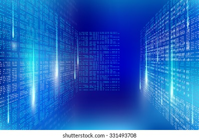 Background abstract binary code