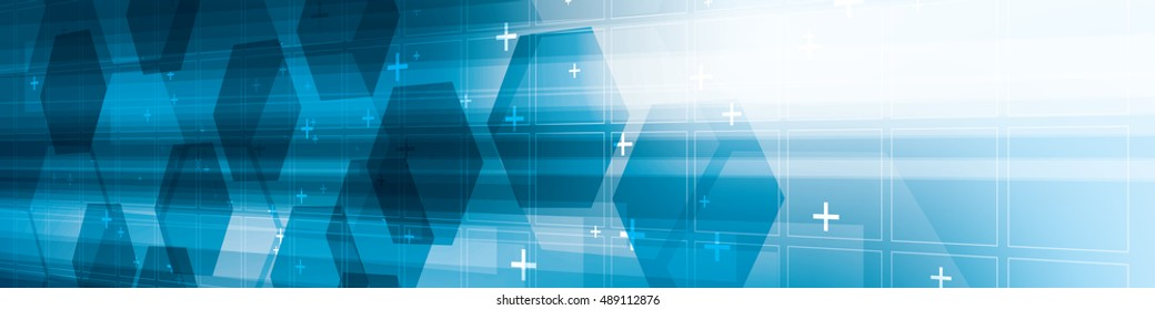Background abstract blue futuristic technology  in digital vector with hexagon.