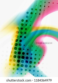 Background abstract - liquid colors wave flow, vector