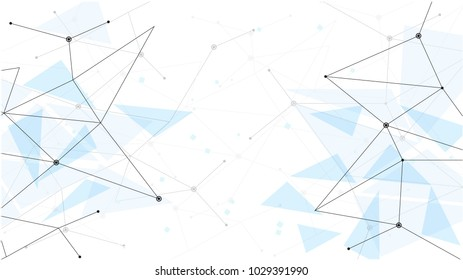 background abstract polygon data technology communication vector design illustration