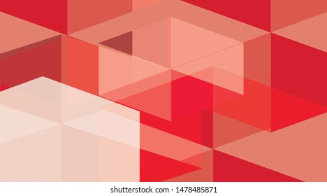 background abstract red poly pettern