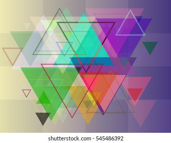 background and adornment with different triangles