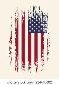 Background with aged USA Flag, EPS 8, CMYK