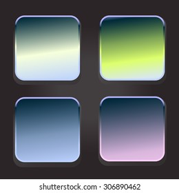 background for the app icons button (vector frame) set