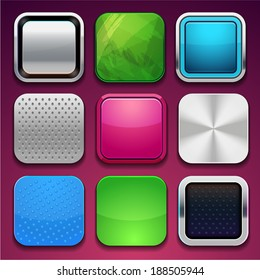 background for the app icons (vector frame)