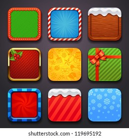 background for the app icons-christmas set