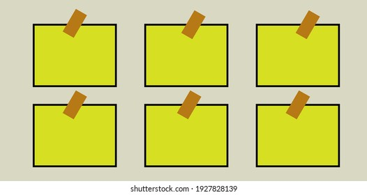 background with the appearance of the latest photo. Yellow in color