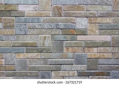 Background - artificial stone bricks wall