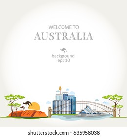 background australia panorama traditional features info
