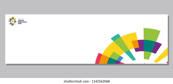 background banner for 18th asian games 2018 logo in indonesia, flyer vector template illustration