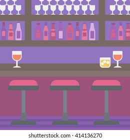Background of bar counter.