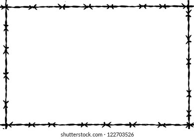 background barbed wire
