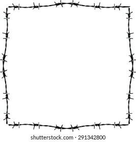 background barbed wire frame