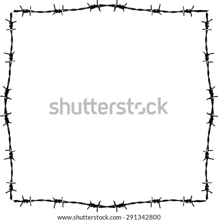 Background Barbed Wire Frame Stock Vector (Royalty Free) 291342800 ...