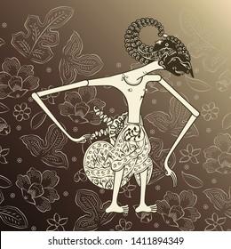Background Batik wayang kulit, Indonesian traditional art