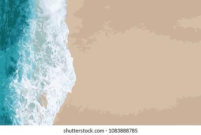 background beach wave