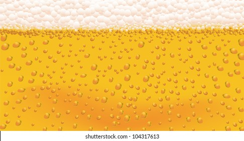 Background of Beer Bubbles in a vector format