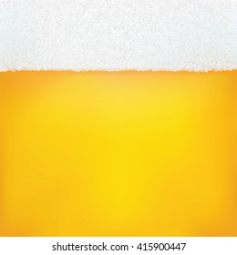 Background Beer With Foam And Bubbles. Vector Illustration