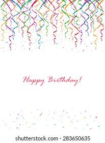birthday streamers images stock photos vectors shutterstock